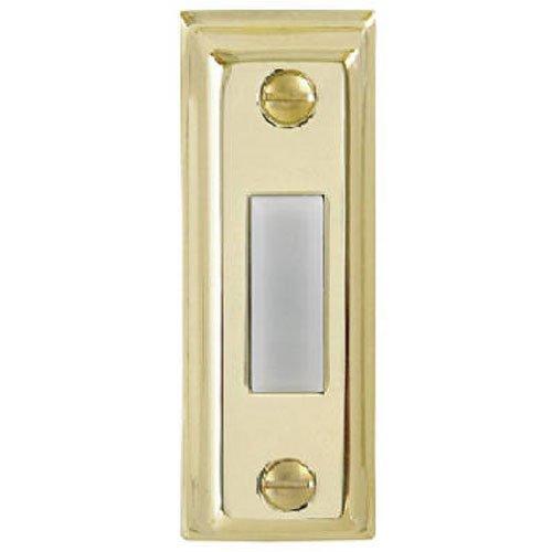 thomas betts wireless doorbells THOMAS & BETTS DH1505L Lighted White, Chime Button W/Gold Metal Rectangular Housing Doorbell