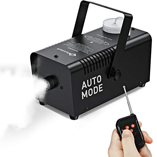 Upgraded Fog Machine with Continuous Fog, Fansteck Halloween Smoke Machine Professional Time Control One Key to Get 30S 60S 80S 3 Modes Continuous Spray, Wireless Control/Over Temperature Protection