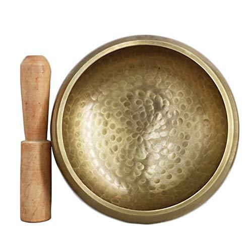 ClothHouse 7 Metalli Campana Tibetana, Campana Tibetana Meditazione Set, Percussione A Mano per Meditazione Buddista Cura Yoga Musicoterapia,17.5cm