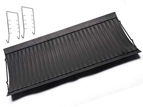 """BBQ funland 27"""" Ash Pan Heavy Duty Steel Miscellaneous Repair Part Replacement for Char Griller Gas Grills 1224, 1324, 2121, 2222, 2727, 2828, 2929, Charbroil 17302056"""