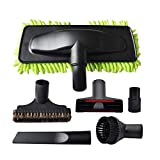 EZ SPARES 6PCS 1 1/4' 32-35mm Universal Hard Floor Washable Sweeper Microfiber Chenille Dust Mop Brush Kit Head Fit All Vacuum Brands Cleaner Accessories Horsehair Brush Kit for Most Brands