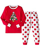 AMGLISE Christmas Pajamas Set Christmas Tree Cotton Pajamas for Boys Girls Kids Pjs Toddler Sleepwear 5