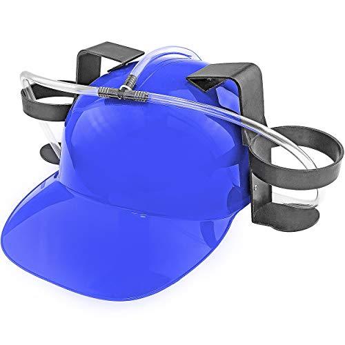 Fairly Odd Novelties Beer Soda Guzzler Helmet Drinking Party Hat, Blue