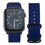ARTCHE Bracelet de Montre en Nylon pour Apple Watch Stitching Sport Bracelet de Remplacement Rétro Compatible avec iWatch Série...