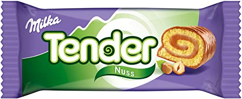 Mondelez Milka Tender Nuss gefüllte Biskuit Rolle 37g 21er Pack
