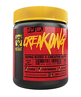 MUTANT CREAKONG, Creatine Supplement and Workout Boost Absorption Accelerator with No Fillers, 300g (0.66 lb)