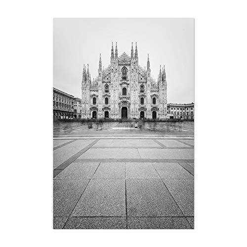 "Noir Gallery Black & White Milan Italy Duomo 12"" x 18"" Unframed Art Print/Poster"