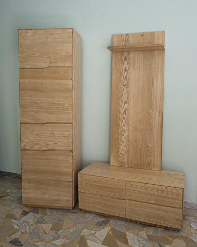 Ebanisteria Gambella - Muebles de pasillo en madera de fresno