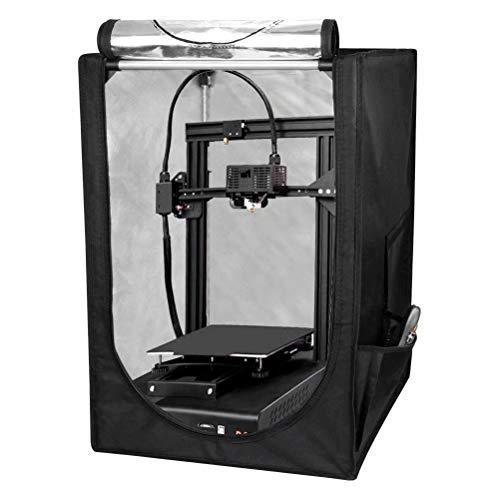 3D Printer Enclosure, Dustproof & Fireproof Warm Enclosure 3D Printer Tent Constant, 3D Printer Soundproof Dust Cover with Window 48 * 60 * 72cm