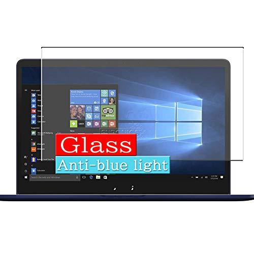 VacFun Filtro Luz Azul Vidrio Templado Protector de Pantalla para ASUS ZenBook Pro 15 UX550GD 15.6' Visible Area, 9H Cristal Screen Protector Anti Blue Light Filter Película(Cobertura no Completa)