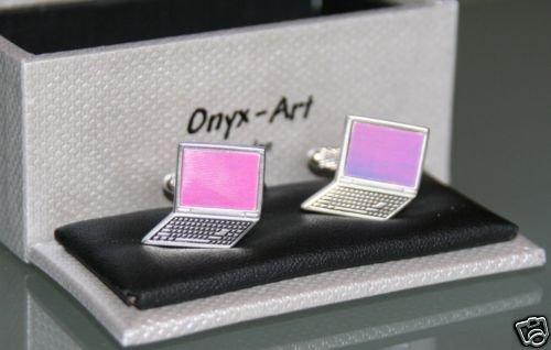 Boutons de manchette en forme d'ordinateur portable pour homme