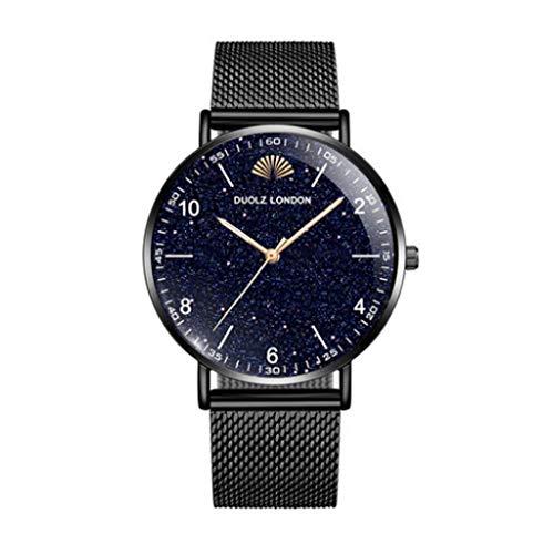 VIMI Relojes El Reloj Digital de los Hombres Impermeable Reloj con Correa de Cuero Sport Grande Relojes de Pulsera