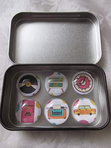 Magnete Kühlschrankmagnete Retro Radio Schallplatte Uhr Kühlschrank