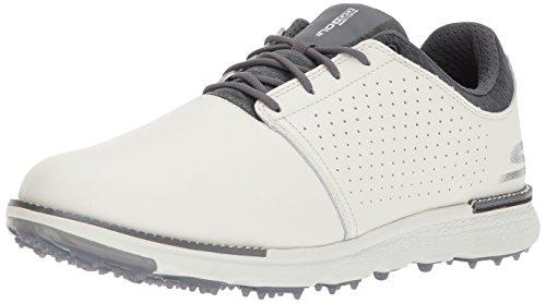 Skechers Performance Men's Go Golf Elite 3 Approach Lx Golf Shoe,Natural/Gray,10.5 M US (Skechers Go Golf Pro 2 Lx Golf Shoes)