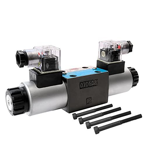 Winchmax CETOP3/NG6 24v solenoide accionado válvula de control hidráulico direccional