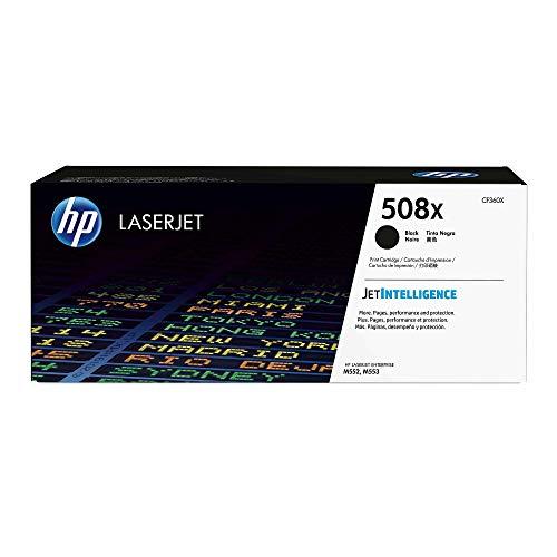 HP 508X (CF360X) Schwarz Original Toner mit hoher Reichweite für HP Color Laserjet Enterprise M552dn, M553, M577