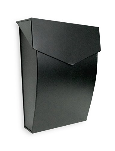 Bradley Steel Mailbox, Wall Mounted, Maximum Rust Protection, 10 x 10 x 4, Hardware Included, MB-6921BLK by North American Country Home