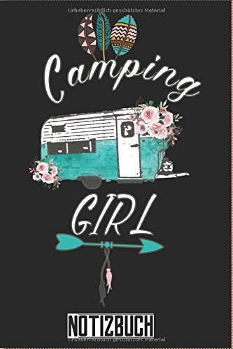 Camping Girl Notizbuch mit Wohnwagen: Camping Wohnwagen Notiz- und Reisebuch: Camping - Tolles liniertes Wohnwagen Notizbuch - 120 linierte Seiten um ...   ca. DINA5   Geschenk für Camper Taschenbuch