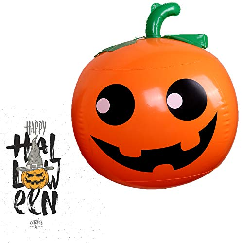 Halloween Party Decorations Inflatable 62 x 19.6 Inch Pumpkin Outdoor Yard Garden Classroom Hanging Decorations Bar Props Environmental Protection PVC Material