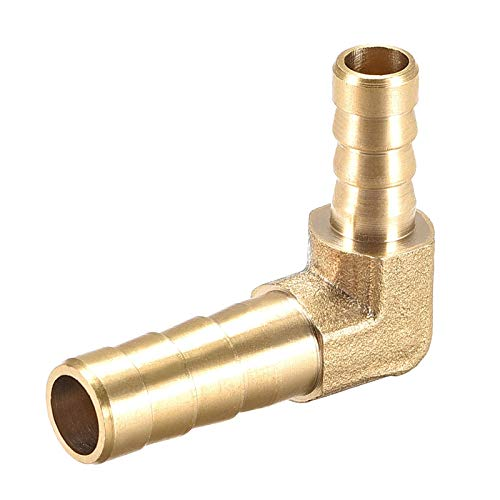 LRrui-Conector de Montaje 8 mm a 6 mm Barb Codo de 90 Grados de latón Manguera Instalación de tuberías del Conector Adaptador del Tubo acoplador Ampliamente Utilizado (Color : Gold, Size : Other)