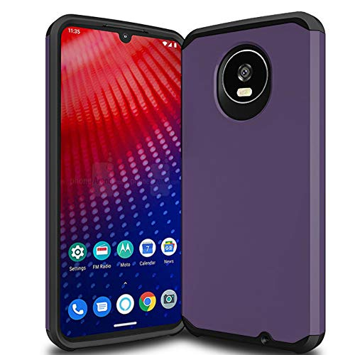 Trihey for Moto Z4 case,Moto Z4 Play Case,[Dual Layer] Hybrid Shock Proof Protective Rugged Bumper Cover Case for Moto Z4 Play Case,Moto Z4 Case (Purple)