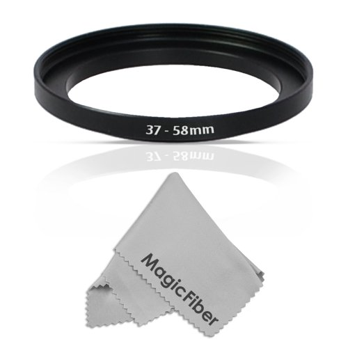goja lens filters Goja 37-58MM Step-Up Adapter Ring (37MM Lens to 58MM Accessory) + Premium MagicFiber Microfiber Cleaning Cloth