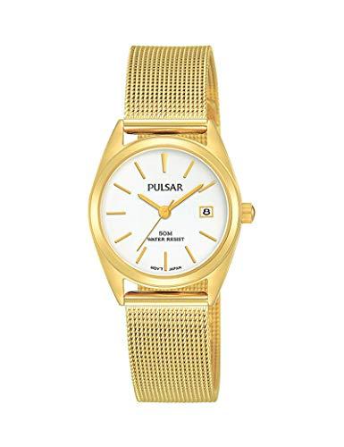 Pulsar - Reloj de malla Milanesa para mujer, color dorado