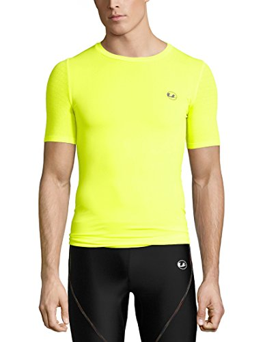 Ultrasport Herren Noam Sport, Trainings, Fitness-T-Shirt, neon gelb, S/M