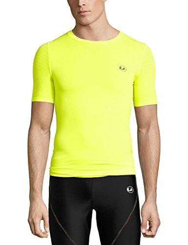 Ultrasport Herren Noam Sport, Trainings, Fitness-T-Shirt, neon gelb, 2XL