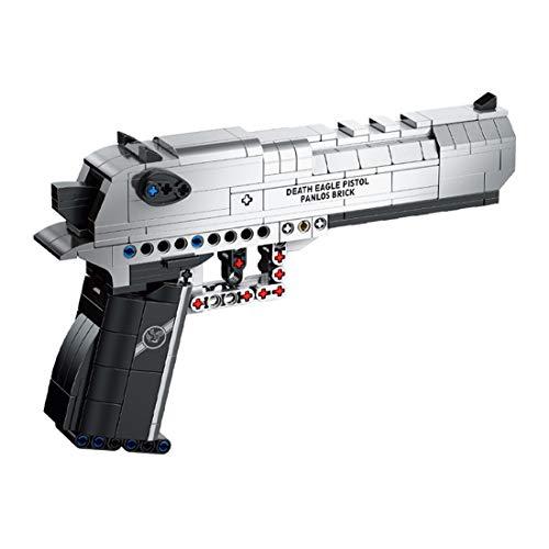 WWEI Pistola técnica militar desert Eagle modelo con función de disparo, 360 piezas, armas mecánicas, compatible con Lego