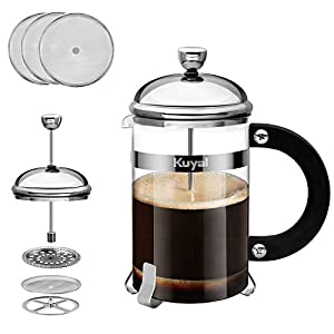 Glass French Press Coffee Tea Maker, 27oz