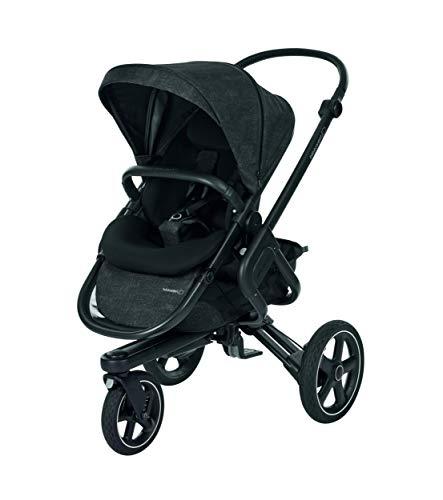 Bébé Confort Nova 3W 'Nomad Black' kinderwagen All Terreno, van geboorte tot 3,5 jaar, zwart