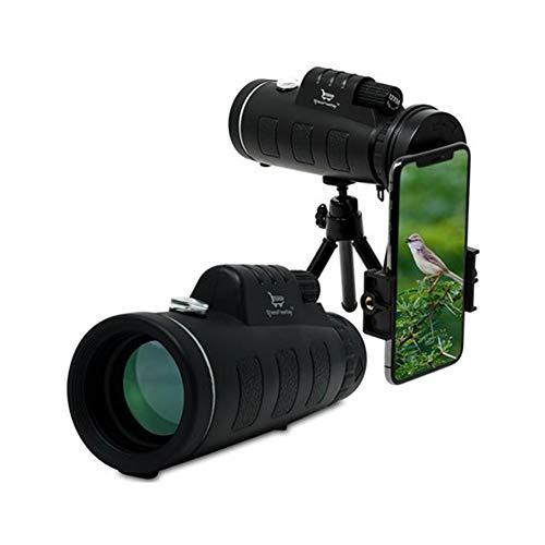 GXYAS - Telescopio de cámara de fotos (monocular, con soporte para smartphone, apto para caza, montañismo, observación de aves, observación de animales y paisajes)