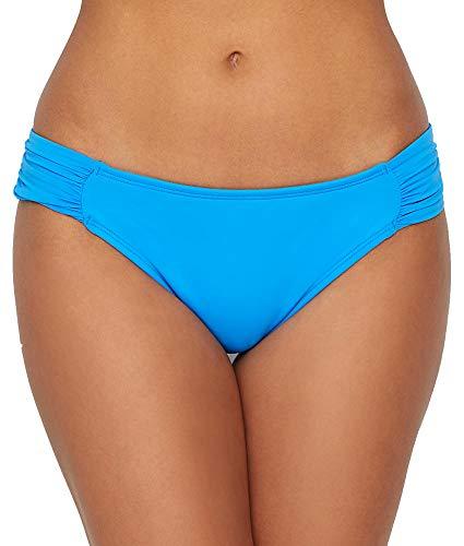 La Blanca Women's Island Goddess Side Shirred Hipster Bikini Swimsuit Bottom, Blueberry, 4