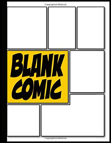 Blank Comic: Create Your Own Comics | Bank Graphic Novel | Blank Comic Book Draw Your Own Comic Strips for Teens Kids and Adults with 110 Variant ... Binding | Manga Template | Empty Anime Book