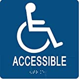 ADA Compliant Accessible Entrance Sign with Braille 6'x6'