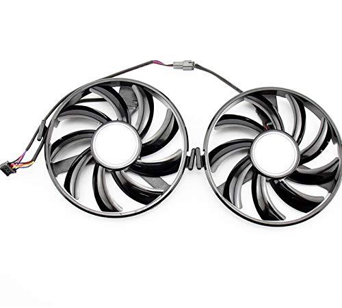 miaomiao 2 stücke GPU VGA Kühler FY09010H12LPB FDC10H12S9-C Kühlfächer Fit für Radeon XFX R9 380 x R7 350 360 370 Grahics-Karte als Ersatz Service