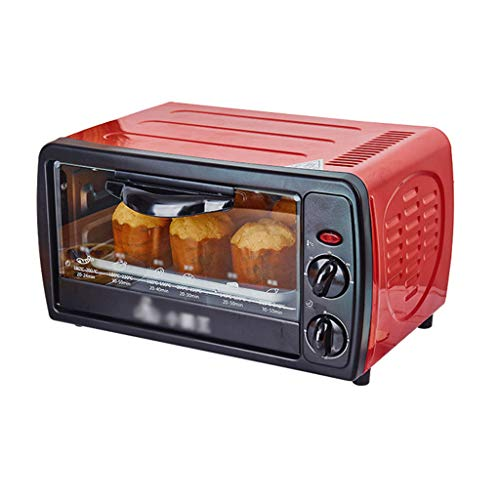 Convection countertop electric oven, including baking tray, grille, stainless steel/black, 12-liter electric oven, 30-minute timer