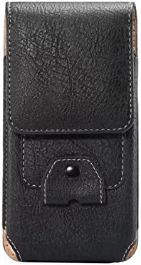 Premium PU Leather Vertical Cell Phone Holster Belt Loop Case Waist Phone Pouch Card Slot for LG V50 ThinQ/LG V40 ThinQ/LG Stylo 4 / Stylo 4 Plus/LG Stylo 3 / LG V20 / LG Stylus 3 / LG X Charge