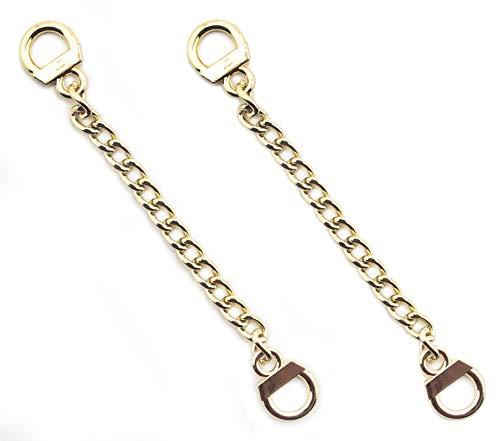 HAND® Set aus 2 Metallic-Kleiderbügeln aus Metall in Metallic-Qualität zum Aufhängen von Kettenösen - 8,5 cm lang