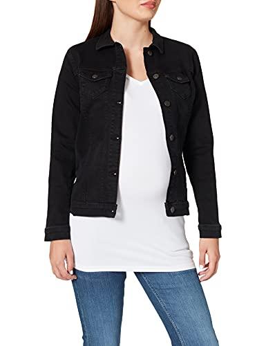 Esprit Maternity Jacket Denim LS Chaleco premamá, Negro (Black Dark Wash 940), 38 para Mujer