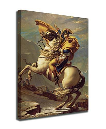 Quadro Napoleone Bonaparte valica il Gran San Bernardo Jacques-Louis David - Bonaparte valica le Alpi - stampa su tela canvas con o senza telaio (QUADRO CON TELAIO IN LEGNO, CM 105X130)