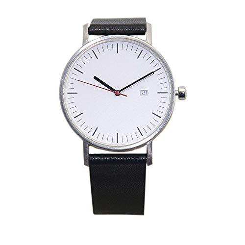 irugh Reloj de Cuarzo, Movimiento Suizo Original de Cristal de Zafiro, Reloj de Cuero de Alta Gama para Hombre, Resistente al Agua
