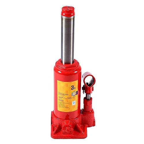 Insmartq - Botella hidráulica Jack - Elevador de acero Heavy Duty de 3 toneladas para coche, furgoneta, camión, caravana, Boat (rojo)