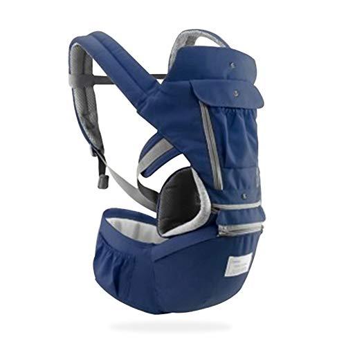 QqHAO Porte-bébé Ergonomique Enfant Enfant Bébé Hipseat écharpe Porte-bébé Porte-bébé Wrap Voyage 0-36 Mois,Bleu
