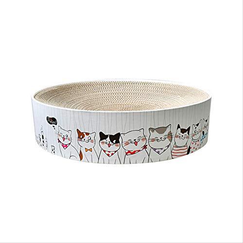 GSDJU Coole runde Wellpappe Katzenkratzplatte Einfache runde Platte Schüsselförmige Katzenkrallenplatte Runde Kuchen Schüsselform Katzennest Send Mint