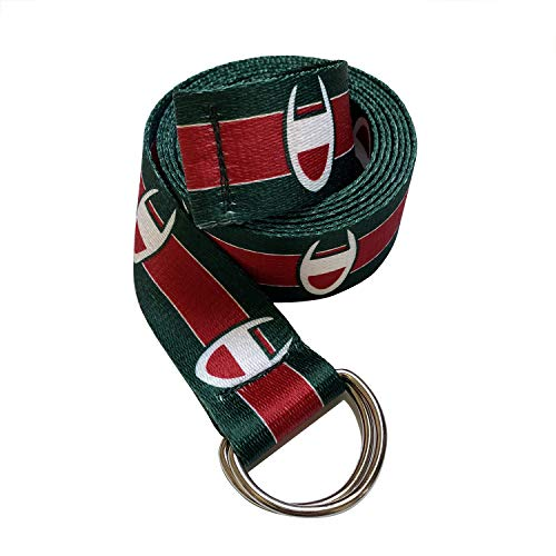 Champion Canvas Web Belt for Men with Silver Double D-ring Buckle Casual Belt (Green, 51inch/130cm)