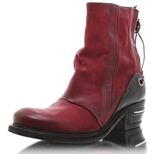 A.S.98 Damen Stiefelette 512208 Cardinal/Nero Größe: 39
