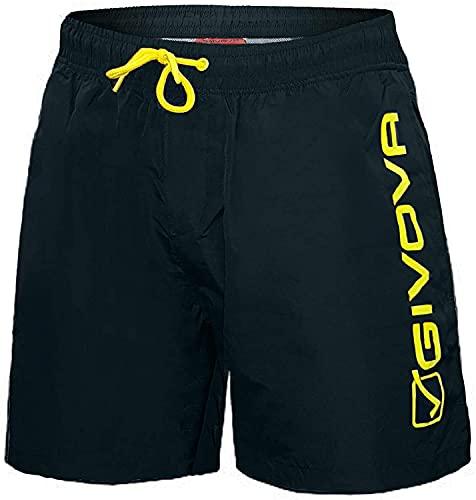 Costume Calibrato Boxer Uomo Nylon Pantaloncino Mare GIVOVA Art. 4550 1v Taglie Forti (Blu, 5XL)