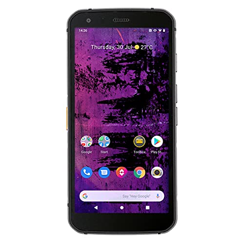 CAT PHONES S62 Pro Rugged Smartphone – North America Variant - with FLIR Thermal Imager, Black